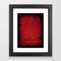 God Is Love Framed Art Print