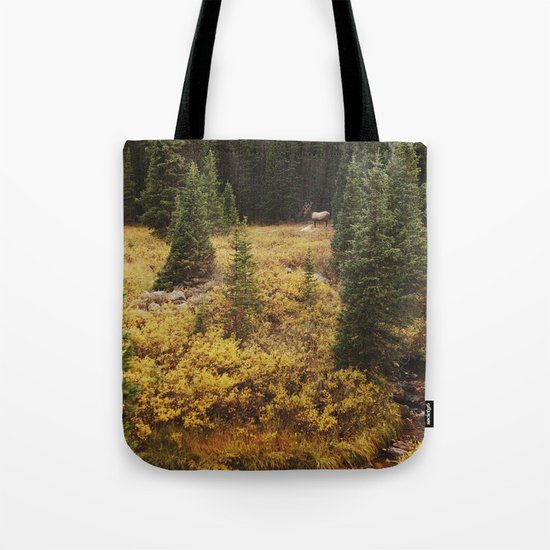 Rocky Mountain Creek Elk Tote Bag