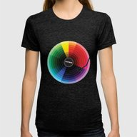 Pantune - The Color Of S… Womens Fitted Tee Tri-Black SMALL