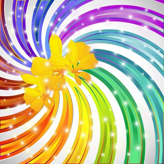 Rainbow Glitter Spiral Art Print