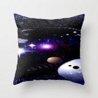 Sternenwelt abstrakt. Throw Pillow