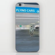 Flying Cars To The Right iPhone & iPod Skin