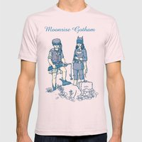 Moonrise Gotham Mens Fitted Tee Light Pink SMALL