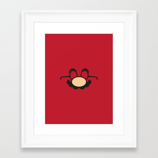 Famous Disguise Framed Art Print
