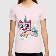 Unikitty Womens Fitted Tee Light Pink SMALL
