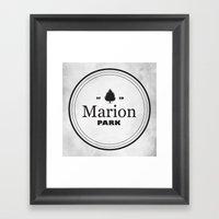 Marion Park Framed Art Print
