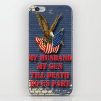 My Husband My Gun iPhone & iPod Skin