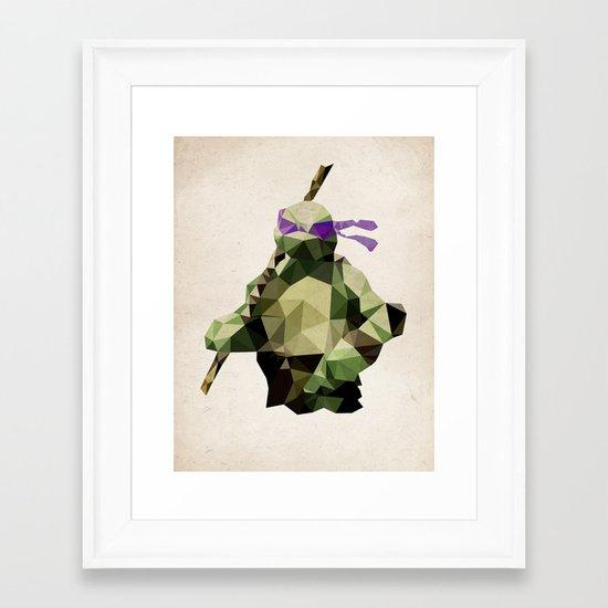 Polygon Heroes - Donatello Framed Art Print