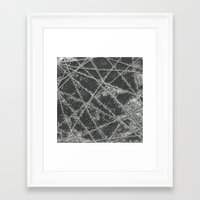 Sparkle Net Black Framed Art Print