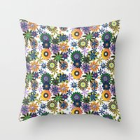 King of Carrot Flowers Throw Pillow