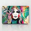 colorful hair iPad Case