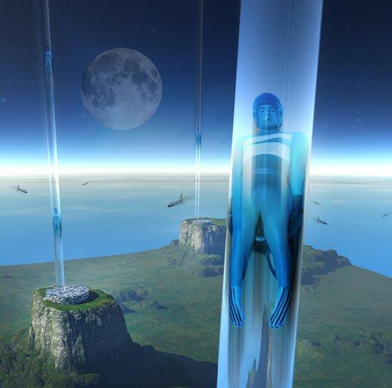 space elevator - babylon transfer station 02 Art Print