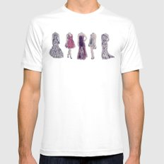 Haute Couture  White SMALL Mens Fitted Tee