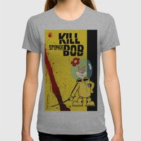 Kill Spongebob Womens Fitted Tee Athletic Grey SMALL