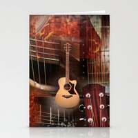 The Acoustic Guitar  Stationery Cards