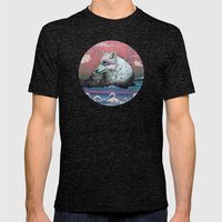 Lone Wolf Mens Fitted Tee Tri-Black SMALL