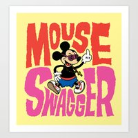 Mouse Swagger Art Print
