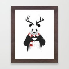 Xmas panda Framed Art Print