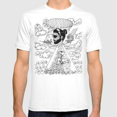 here we go again... White SMALL Mens Fitted Tee