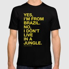 From Brazil III Black SMALL Mens Fitted Tee