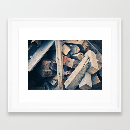 Wood Scraps Framed Art Print