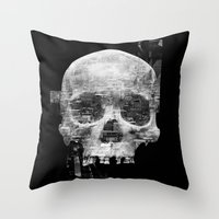 Favela'Skull Throw Pillow