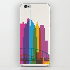 Shapes of Pittsburgh. Accurate to scale iPhone & iPod Skin