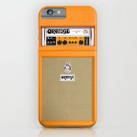 iPhone Cases featuring Retro Orange guitar electric amp amplifier iPhone 4 4s 5 5s 5c, ipad, tshirt, mugs and pillow case by Three Second