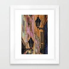 Night street Framed Art Print