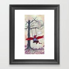 The Red Raven Revelation Framed Art Print
