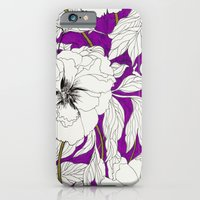 iPhone & iPod Case featuring Purple Peonies by Marcella Wylie