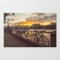 Sunset South Bank London Canvas Print