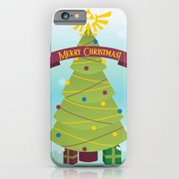 iPhone & iPod Case featuring A Triforce Christmas by designbyash
