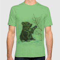 Bear Cub Mens Fitted Tee Grass SMALL