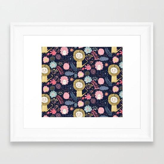 Wild and sweet garden Framed Art Print