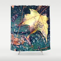 Fall in the Spider's Web Shower Curtain