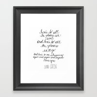 Here's To All The Places… Framed Art Print