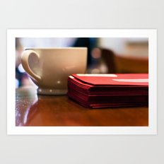Holiday Cards and Coffee Art Print