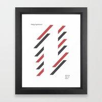 neigungstanzen Framed Art Print