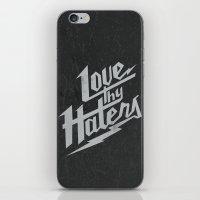 Love Thy Haters - Black iPhone & iPod Skin