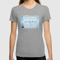 Believe Womens Fitted Tee Tri-Grey SMALL