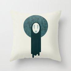 Spirited Away, No Face  Throw Pillow