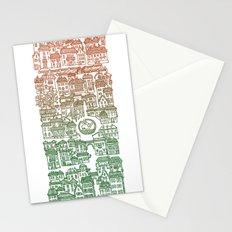 Autumn city Stationery Cards