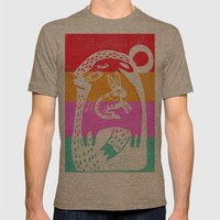big bear Mens Fitted Tee Tri-Coffee SMALL