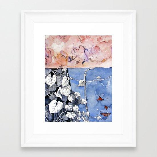 Climbing the painted Framed Art Print