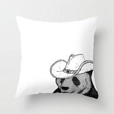 Cowboy Panda Throw Pillow