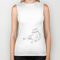 Fat Cat illustration Biker Tank