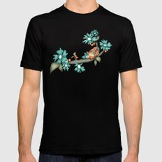Birds SMALL Mens Fitted Tee Black