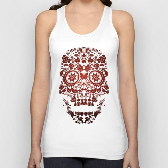 Day of the Dead Skull No.20 Unisex Tank Top