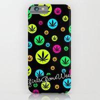 GGDUB - Neon Weed Leaf  iPhone 6 Slim Case